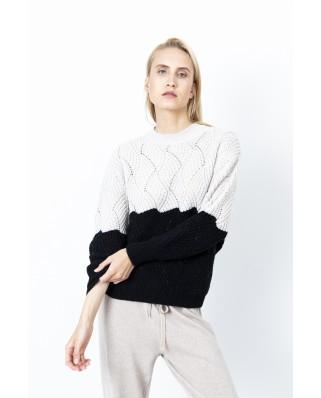 Полушерстяной свитер